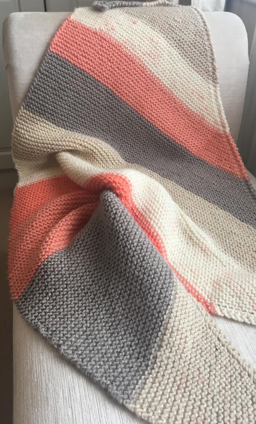 caron cakes triangle scarf