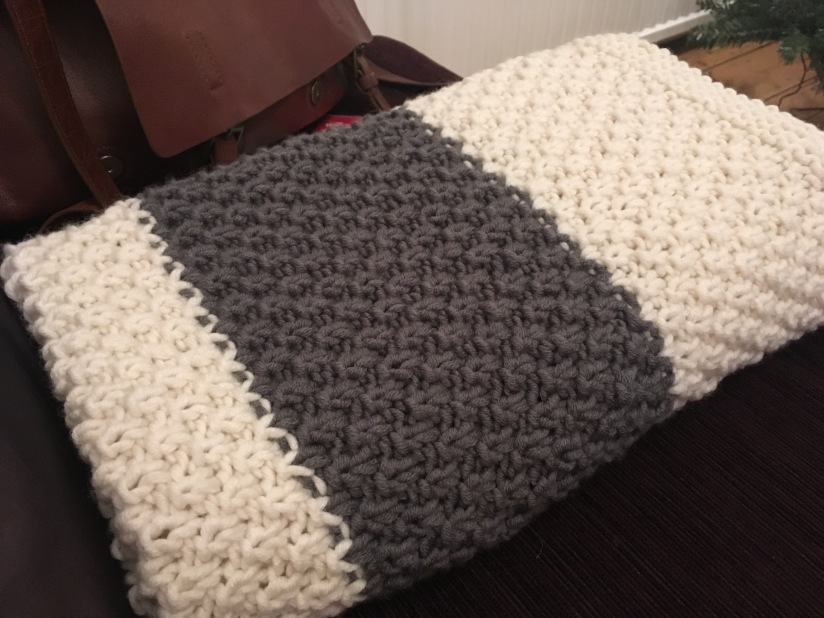 double seed stitch baby blanket